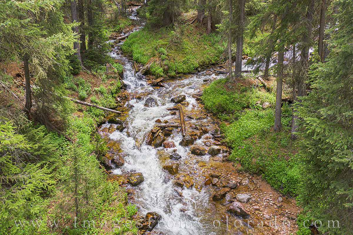 Just off Highway 40 as you drive north from Winter Park towards Berthoud Pass and the Continental Divide, there are several pullouts...