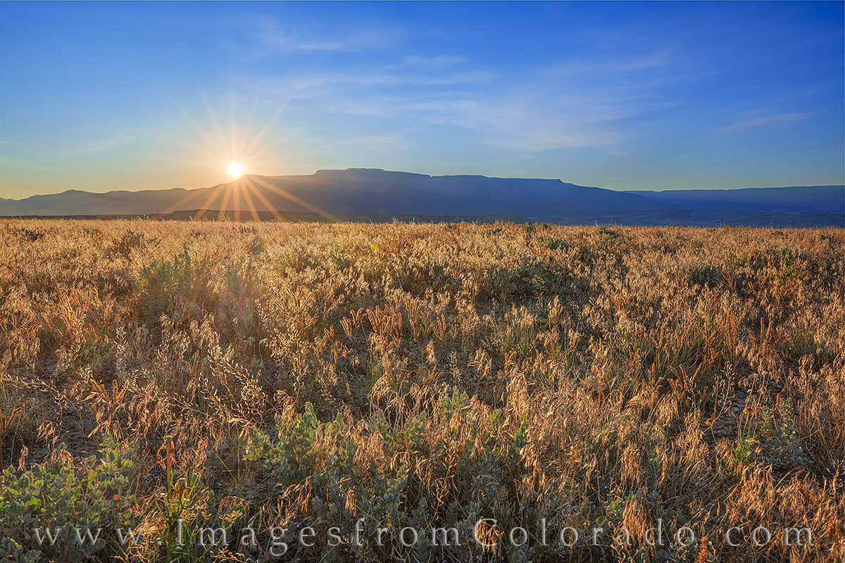grand mesa, sunrise, grand junction, whitewater, grand valley, western slope, western colorado, photo