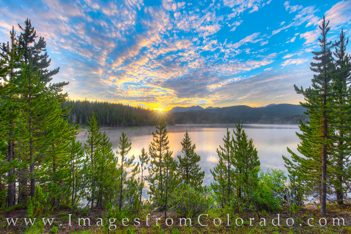 Meadow Creek Reservoir is a beautiful place to spend a summer sunrise. Here, the sun crests the distant horizon and an ever-changing...