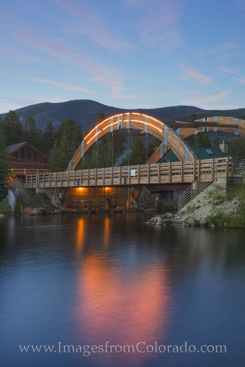 grand lake colorado, grand lake bridge, grand county, rocky mountain national park, jericho road, grand lake channel, photo
