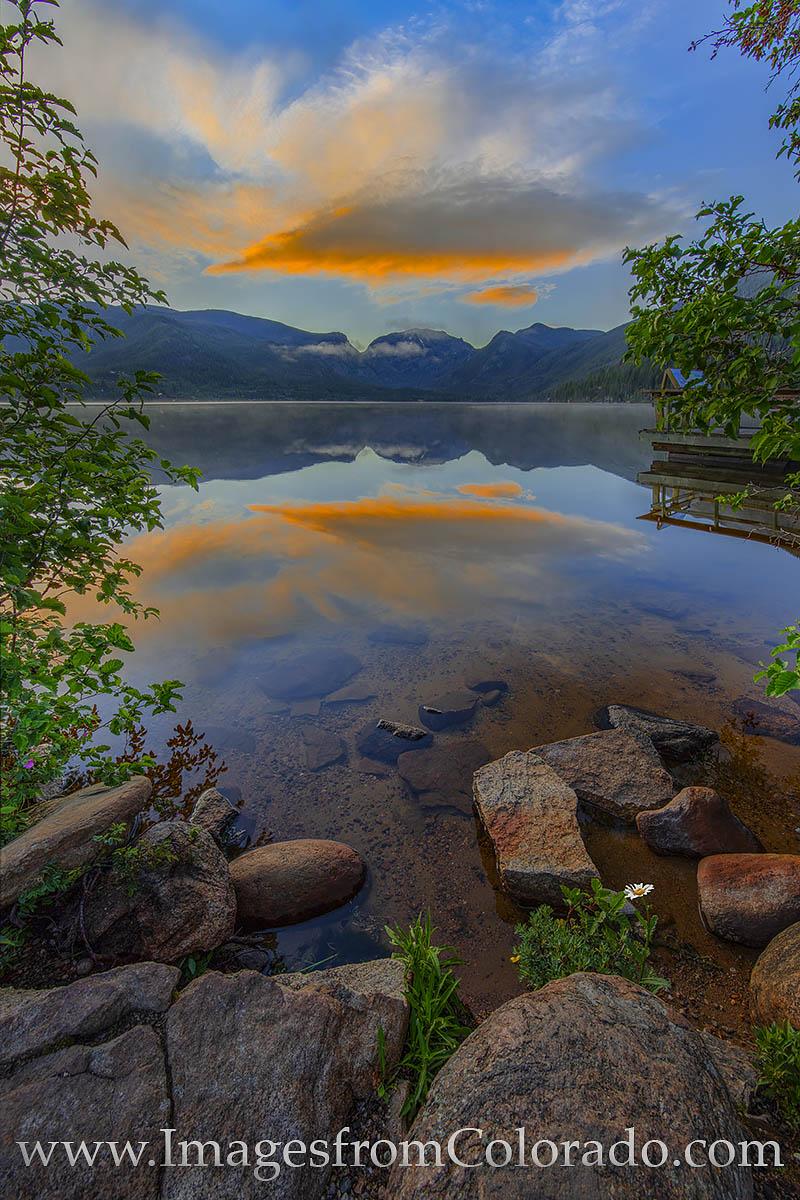 sunrise, grand lake, grand county, mount craig, RMNP, mount baldy, peace, daisy, flower, photo