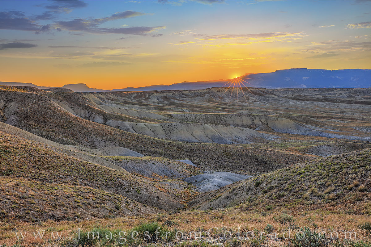 grand mesa, mount garfield, sunrise, grand junction, morning, desert, western slope, photo