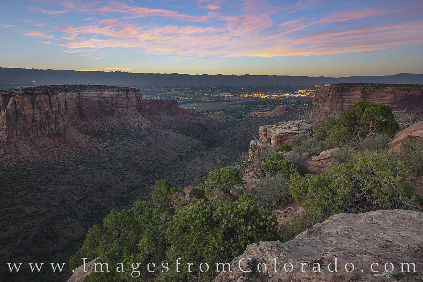 Grand Junction, Grand View, Colorado National Monument, rim rock road, canyon, sunset, summer, colorado, explore colorado, cliff, photo