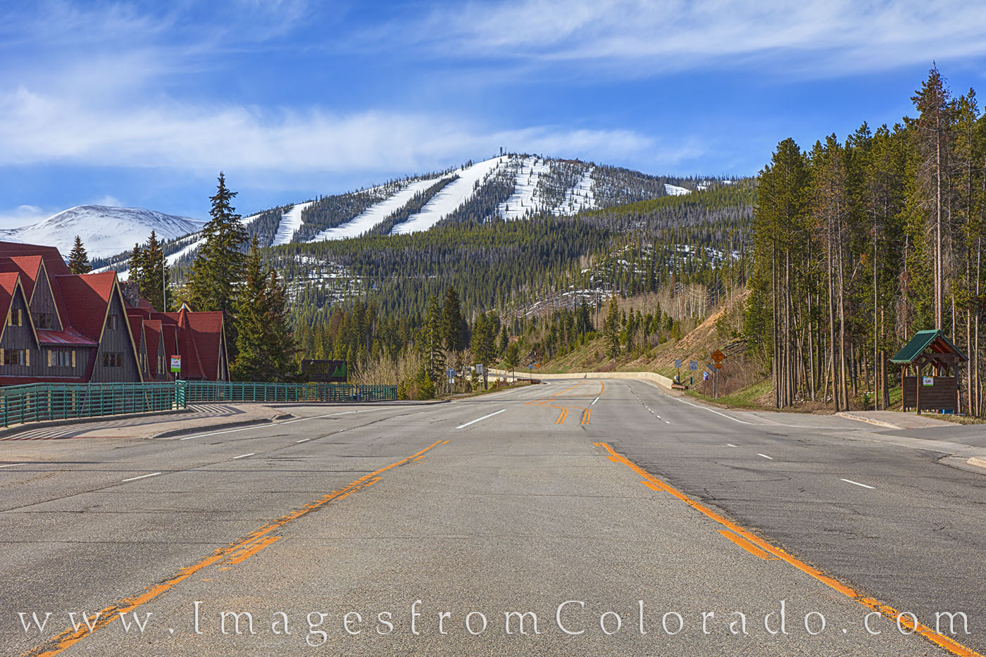 highway 40, grand county, winter park, ski runs, ski base, spring, snow, photo