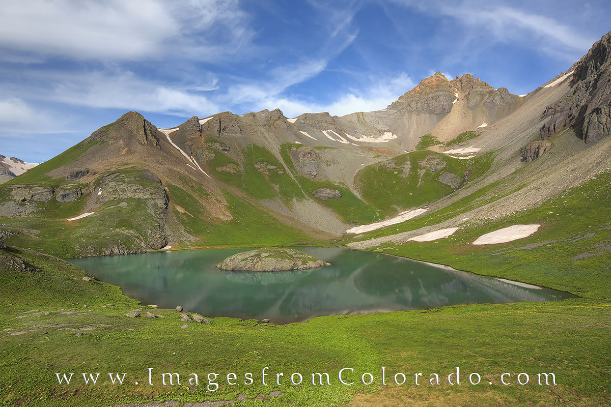 Ice lakes, ice lakes trail, island lake, silverton, wildflowers, 13ers, hikes, san juan mountains, Colorado hikes, Colorado trails, photo