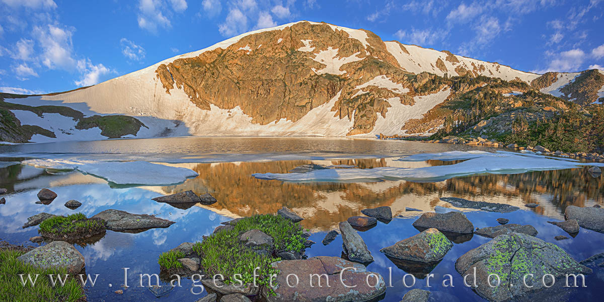 king lake, rollins pass, corona pass, winter park, continental divide, ice, summer, hike, grand county, photo
