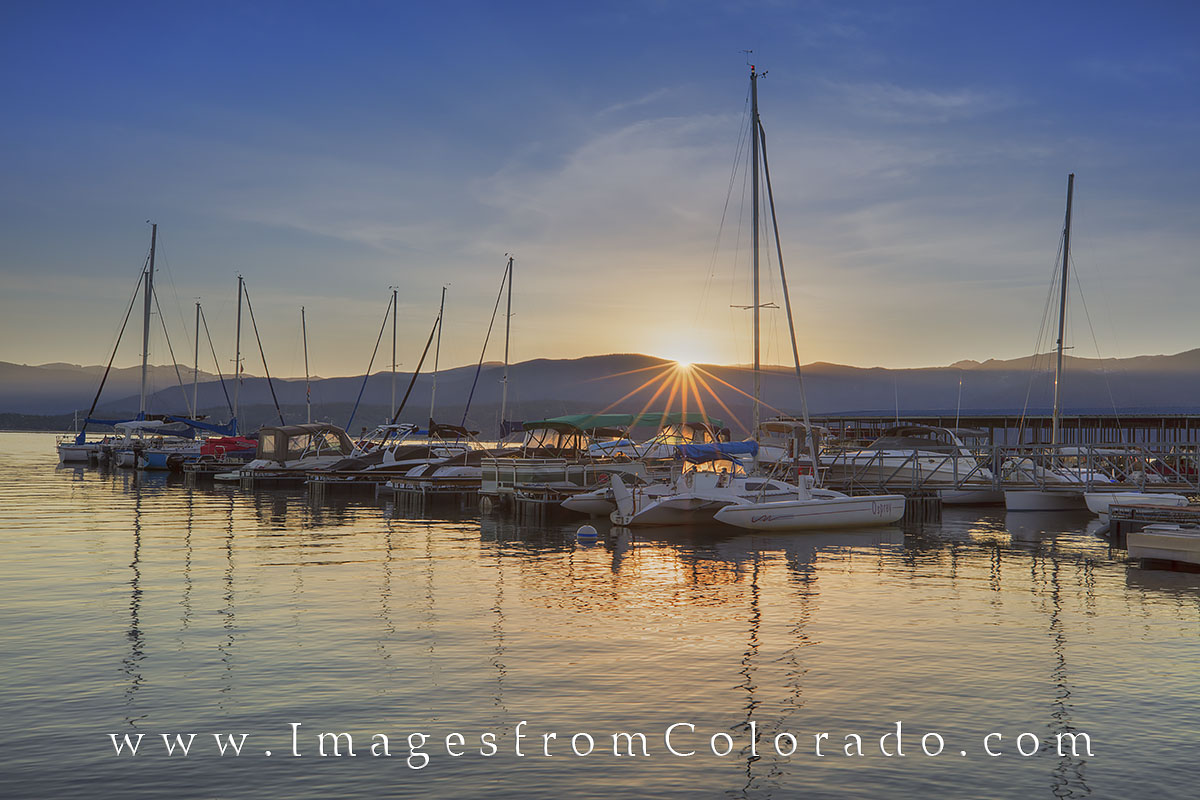 grand county, lake granby, boats, boat images, colorado lakes, sunrise, colorado sunrise, grand lake., photo