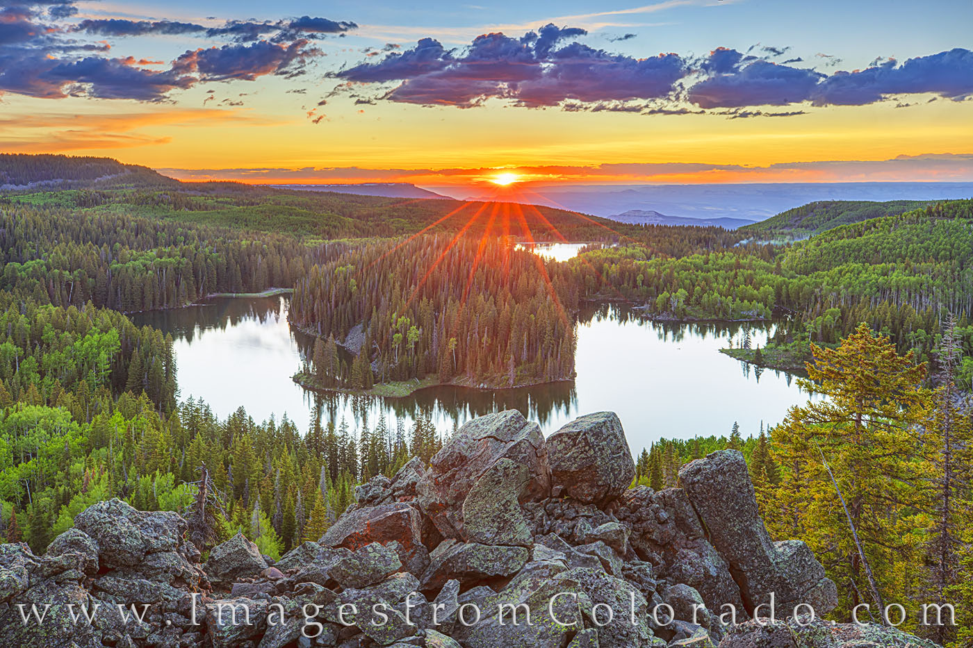 mesa lake, grand mesa, grand mesa scenic byway, mesa lakes, sunset, panorama, western colorado, grand junction, hike, hidden gem, photo