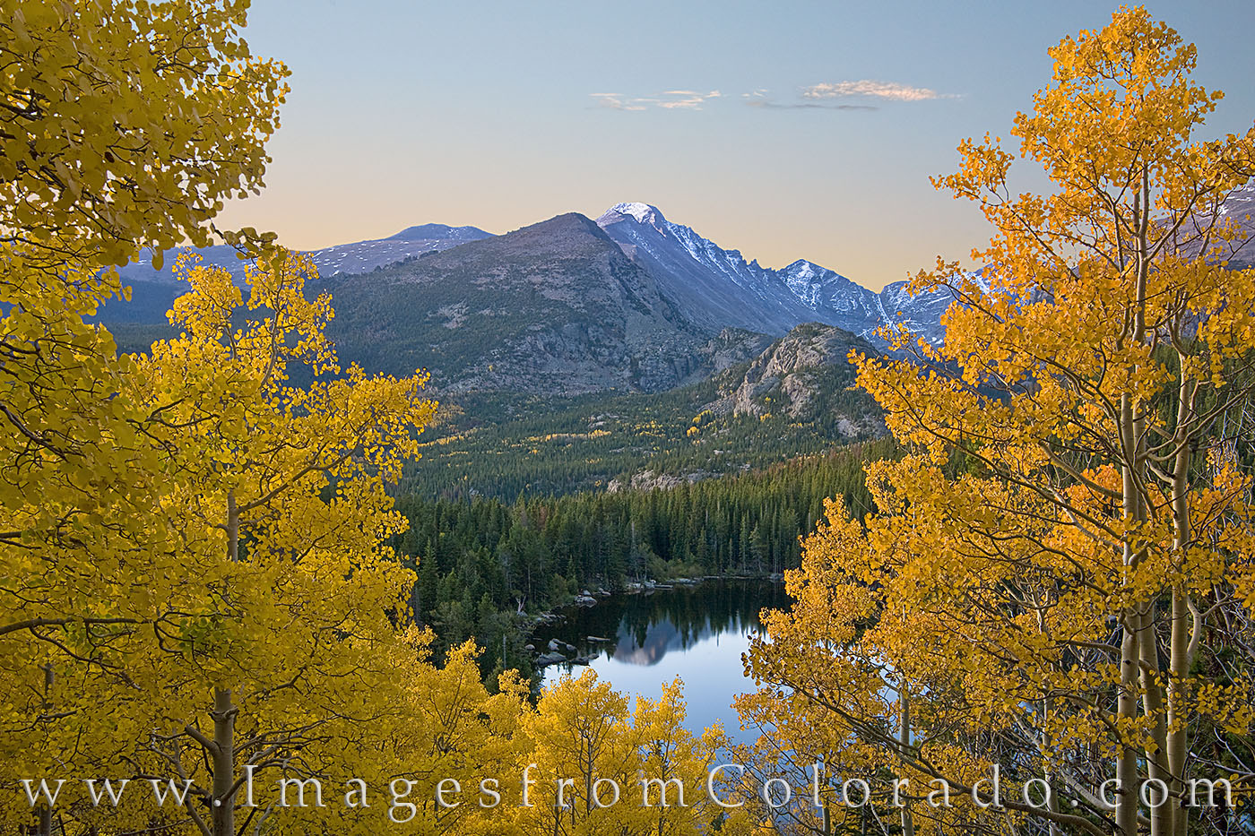 aspen, longs peak, bear lake, rocky mountain national park, rmnp, autumn, gold, 14ers, photo