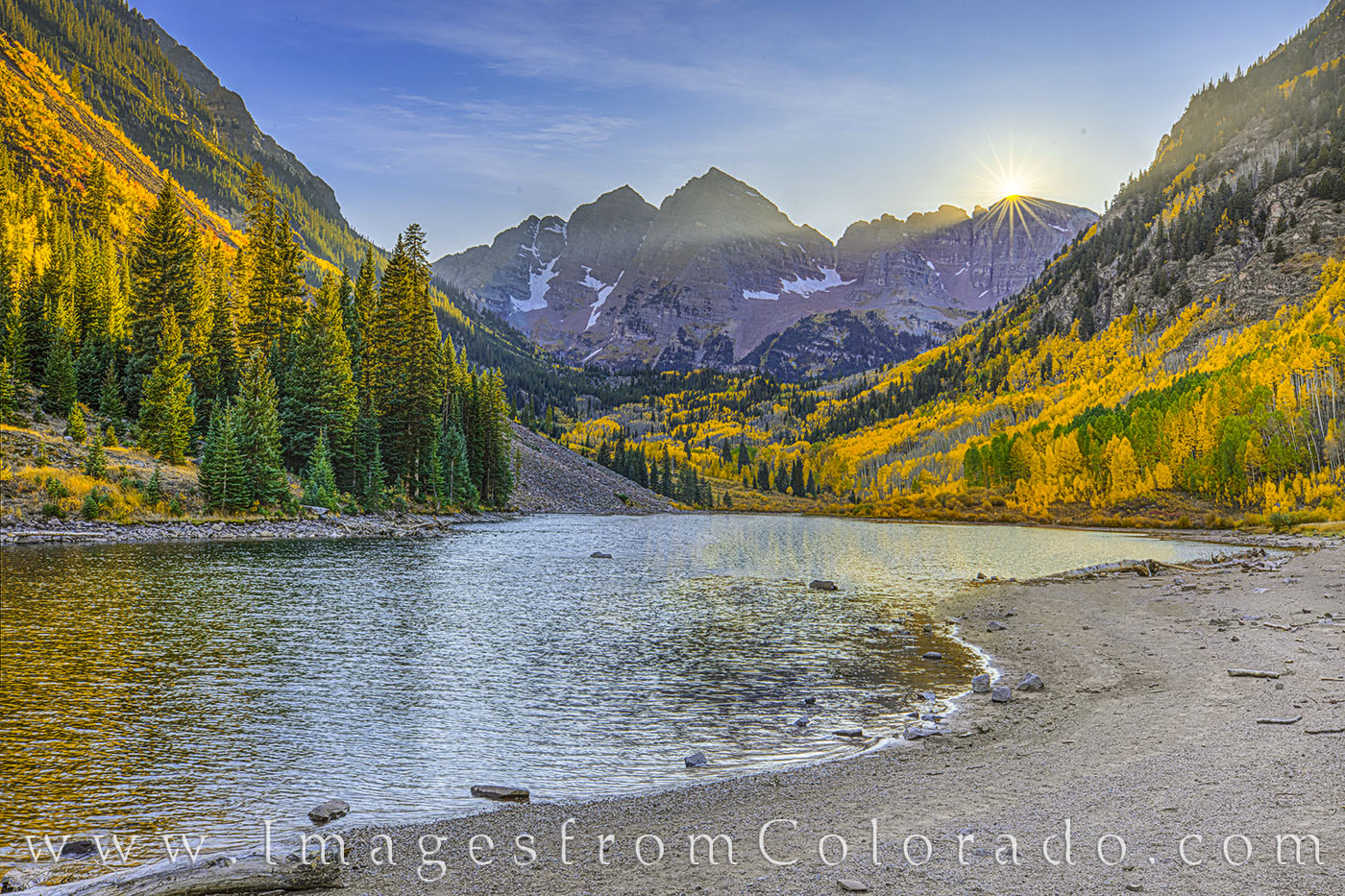 aspen, maroon bells, sunset, fall, autumn, maroon lake, elks range, maroon bells wilderness, photo