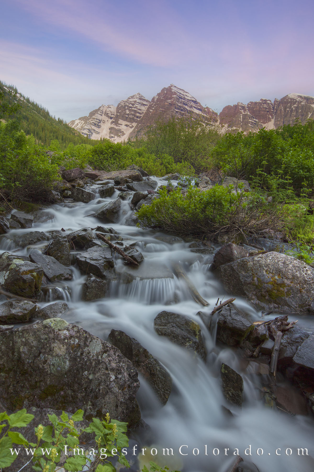 maroon bells, 14ers, waterfall, cascade, aspen, hiking, colorado waterfalls, morning, sunrise, maroon lake, photo