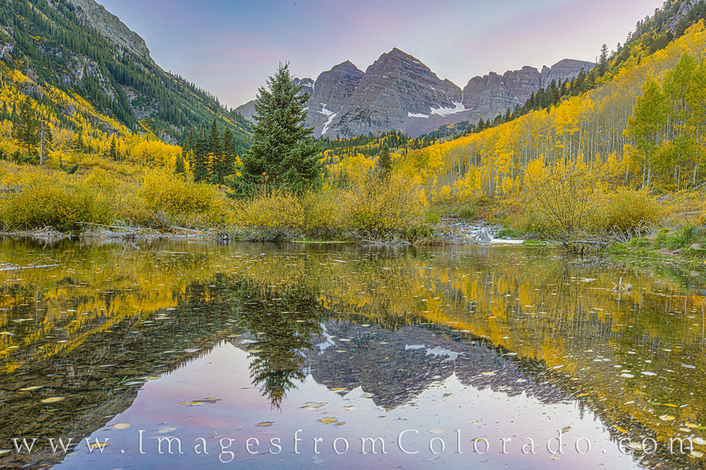 maroon bells, fall, autumn, october, aspen, gold, yellow, cold, 14ers, west maroon creek, reflection, photo