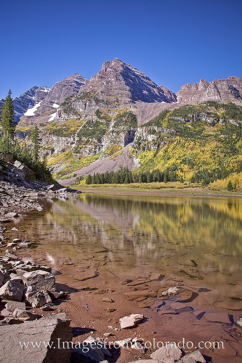 maroon bells, crater lake, maroon lake, aspen, aspen colorado, maroon lake prints, maroon bells prints, autumn, september, colorado fall, photo