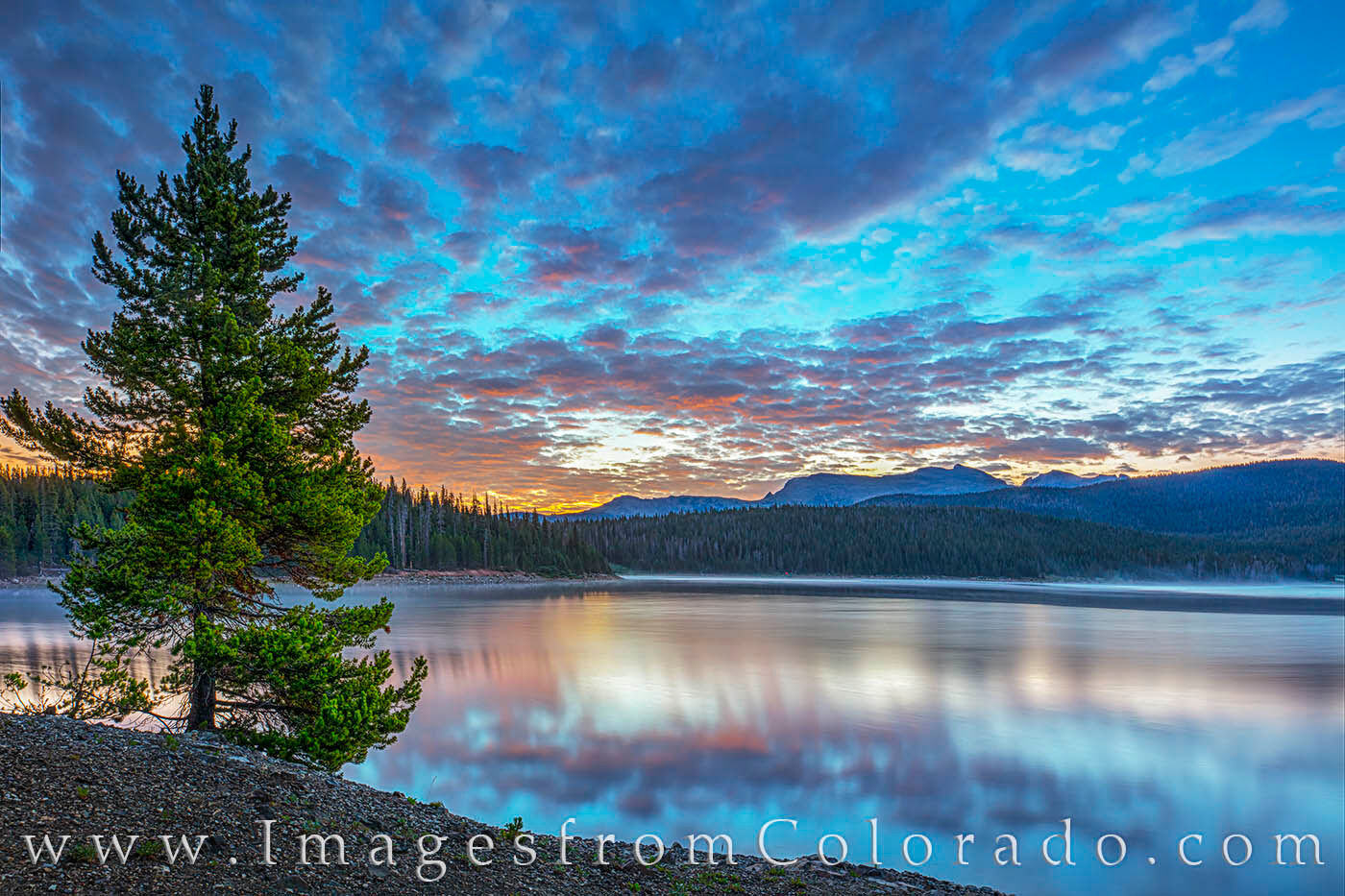 Not far from Tabernash in Grand County, Meadow Creek Reservoir is a great place to explore. This July sunrise comes from the...