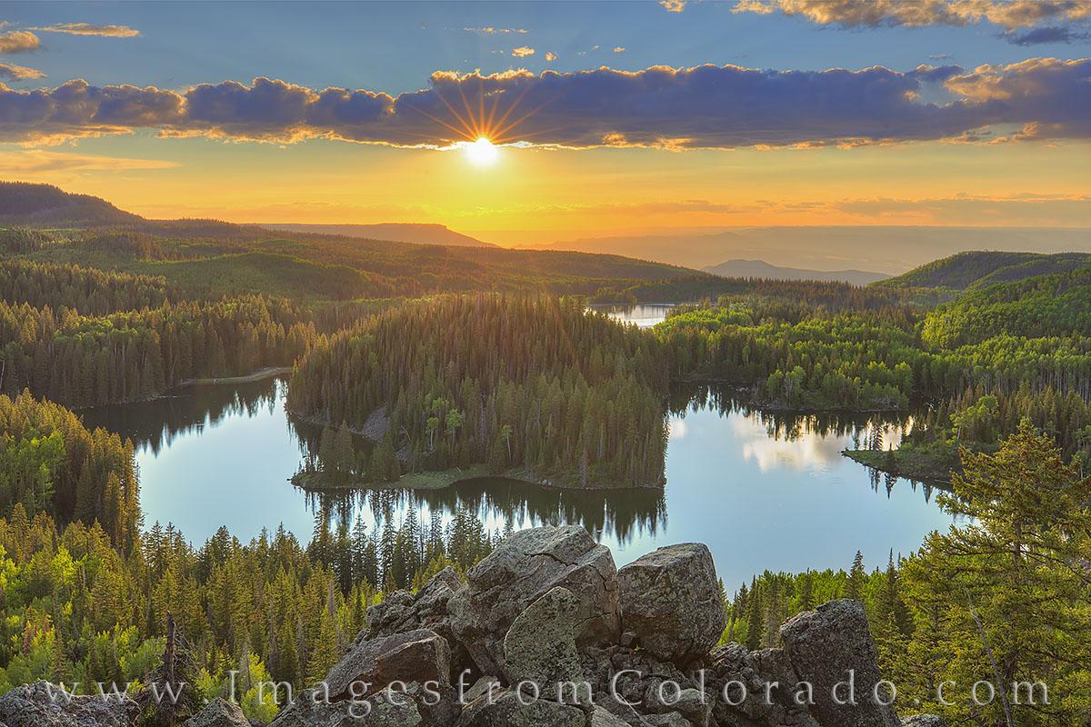 grand mesa, mesa lake, mesa lakes area, grand junction, western slope, western colorado, sunset, photo