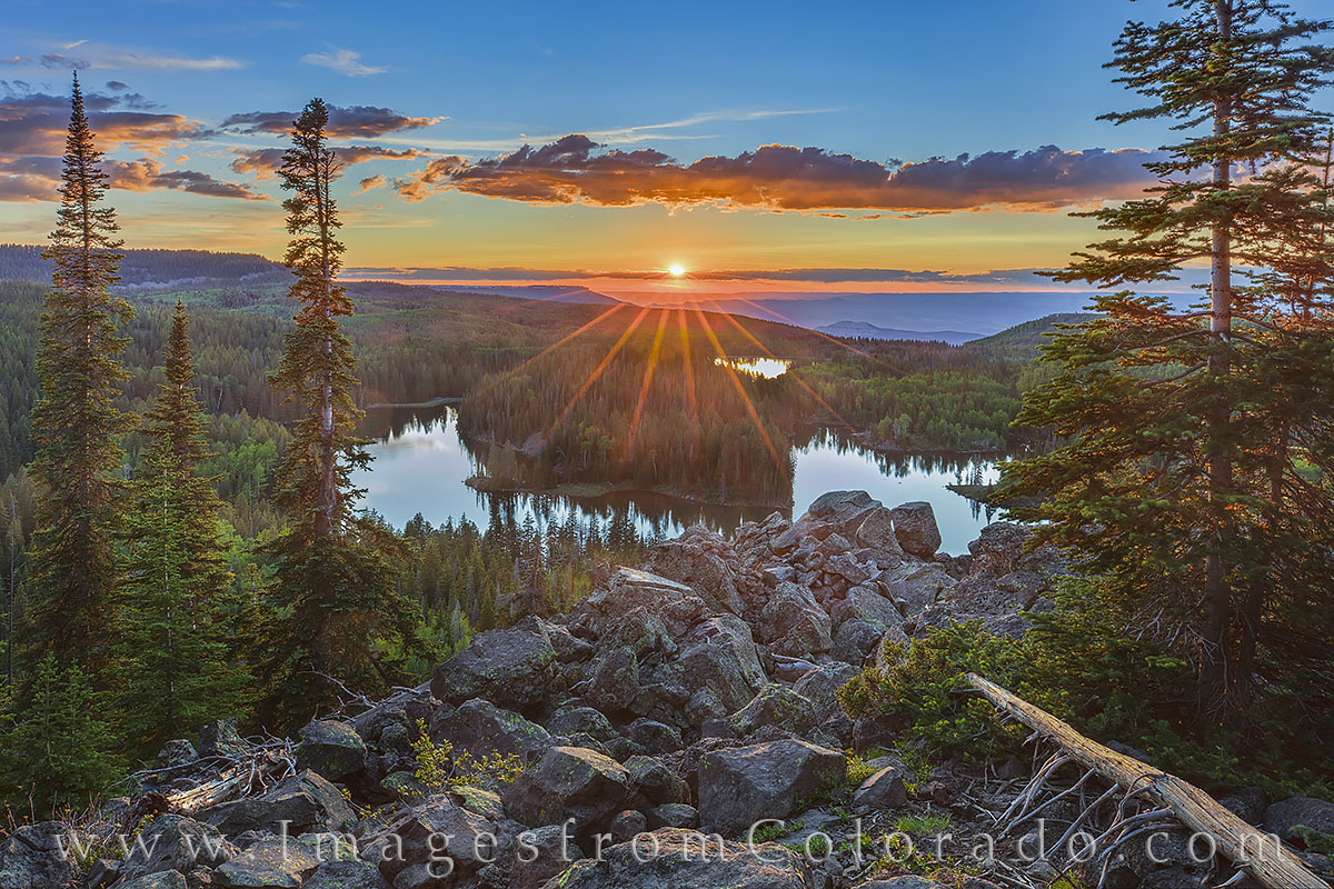 grand mesa, mesa lakes, lake mesa, sunset, summer, pine, colors, grand mesa scenic byway, hiking, photo