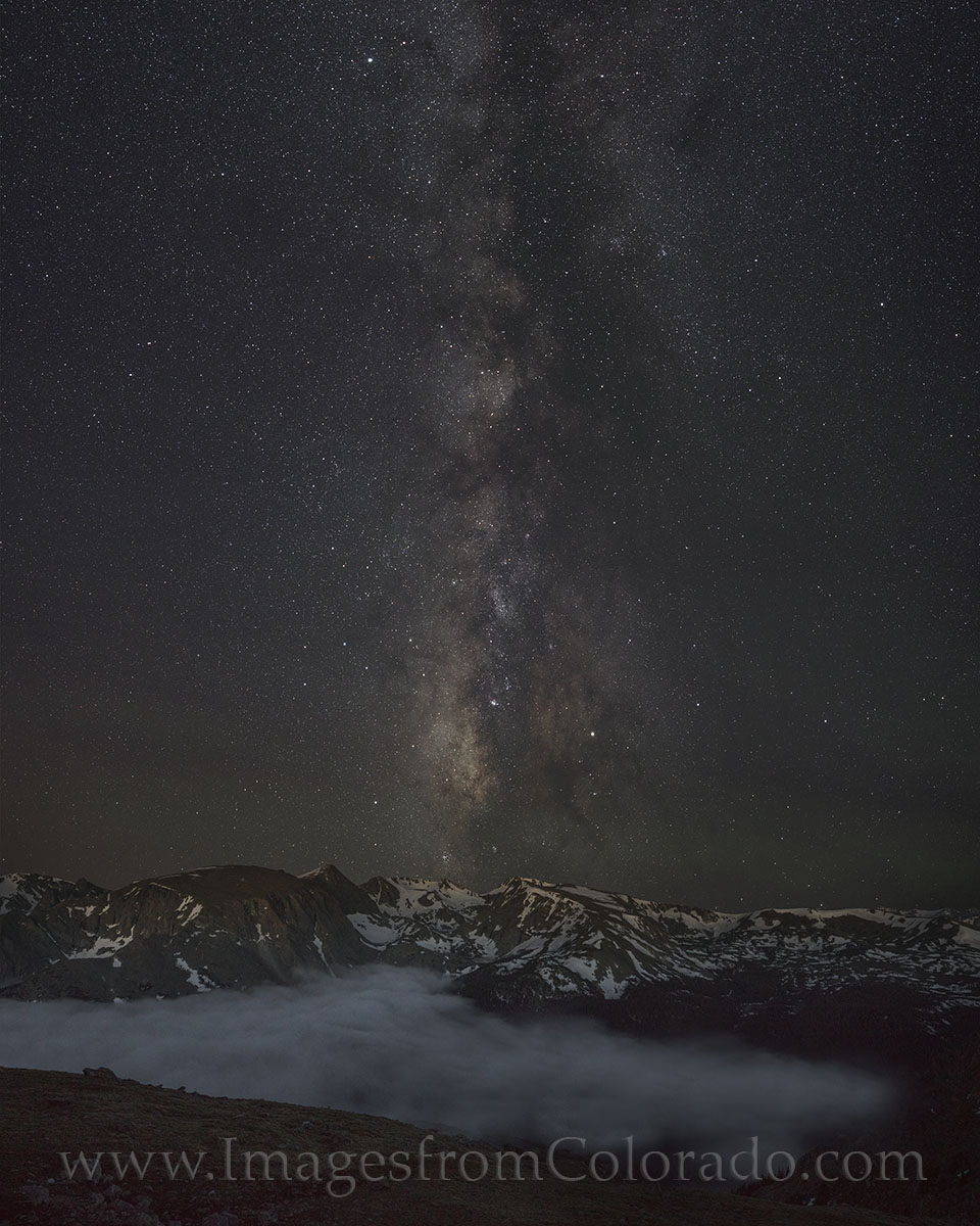 This night time image of the Milky May was taken from Trail Ridge Road at an elevation of around 11,800. From this height, the...