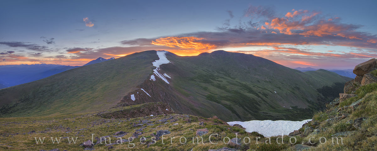 mount flora, berthoud pass, 13ers, grand county, winter park, highway 40, sunrise, morning, panorama, continental divide trail, CDT, colorado mountain images, rocky mountains, CDT images, 13ers images, photo