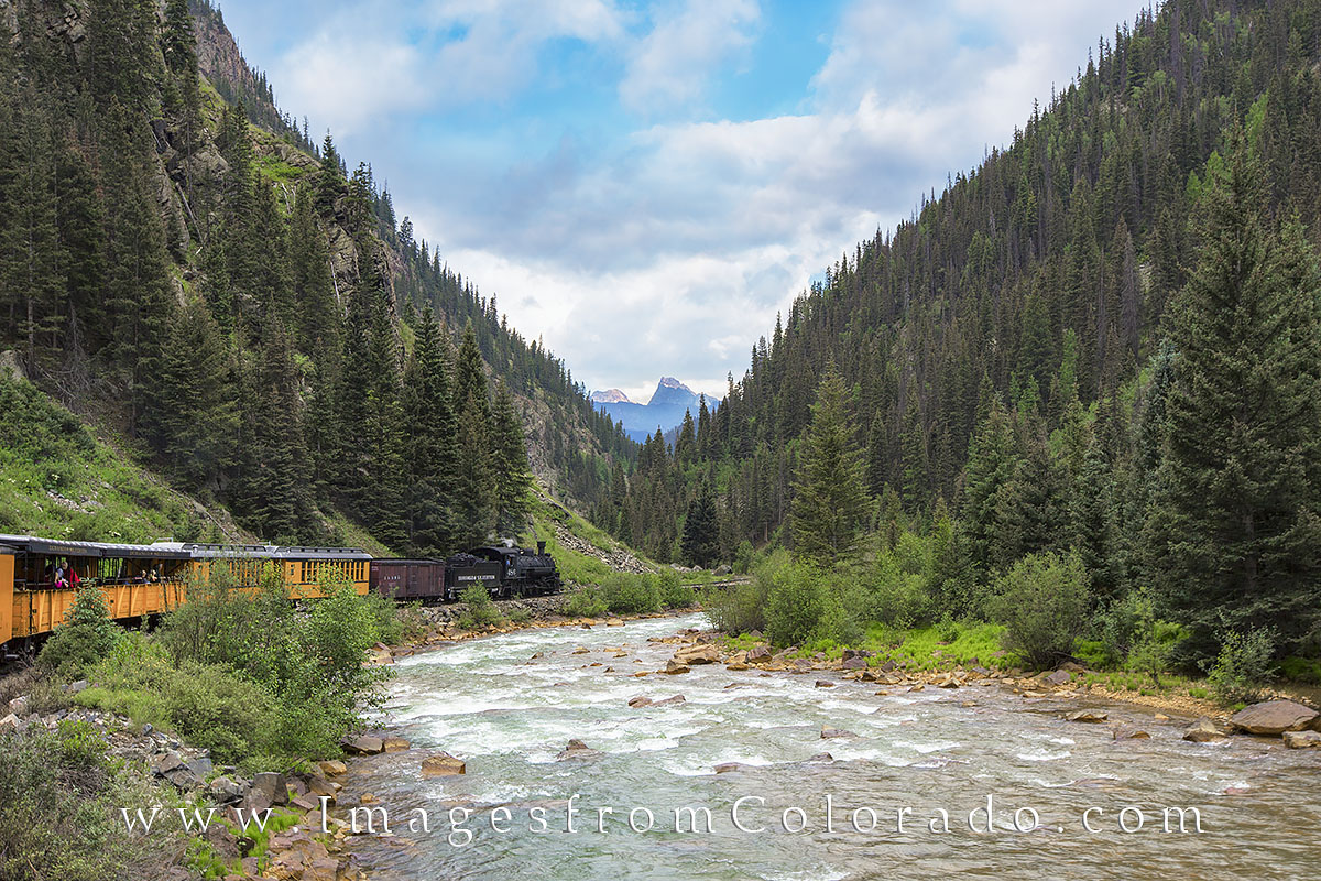 colorado images, durango silverton, narrow gauge railroad, durango, silverton, colorado prints, colorado landscapes, san juan mountains, animas river, trains, traintracks, photo