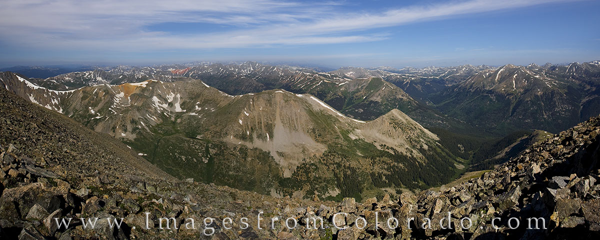 La Plata, 14ers panorama, colorado 14ers, colorado mountains, landscapes, colorado summits, photo