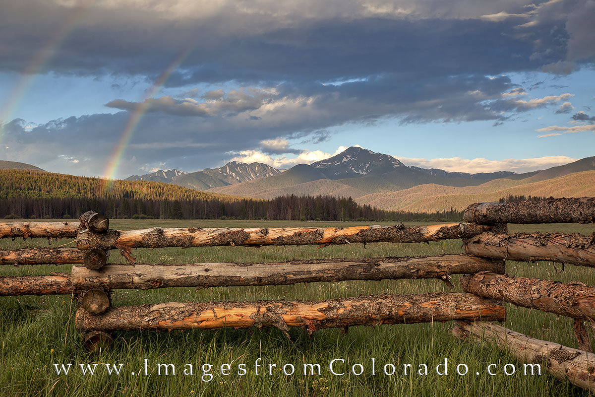 byers peak, fraser, mountains, wooden fence, colorado landscapes, photo