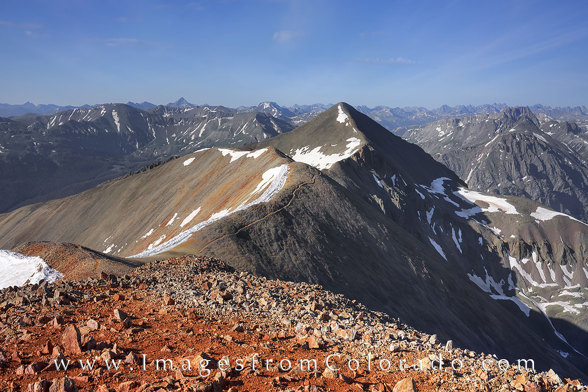 colorado 14ers, Sunshine Peak, Red Cloud Peak, lake city, photo