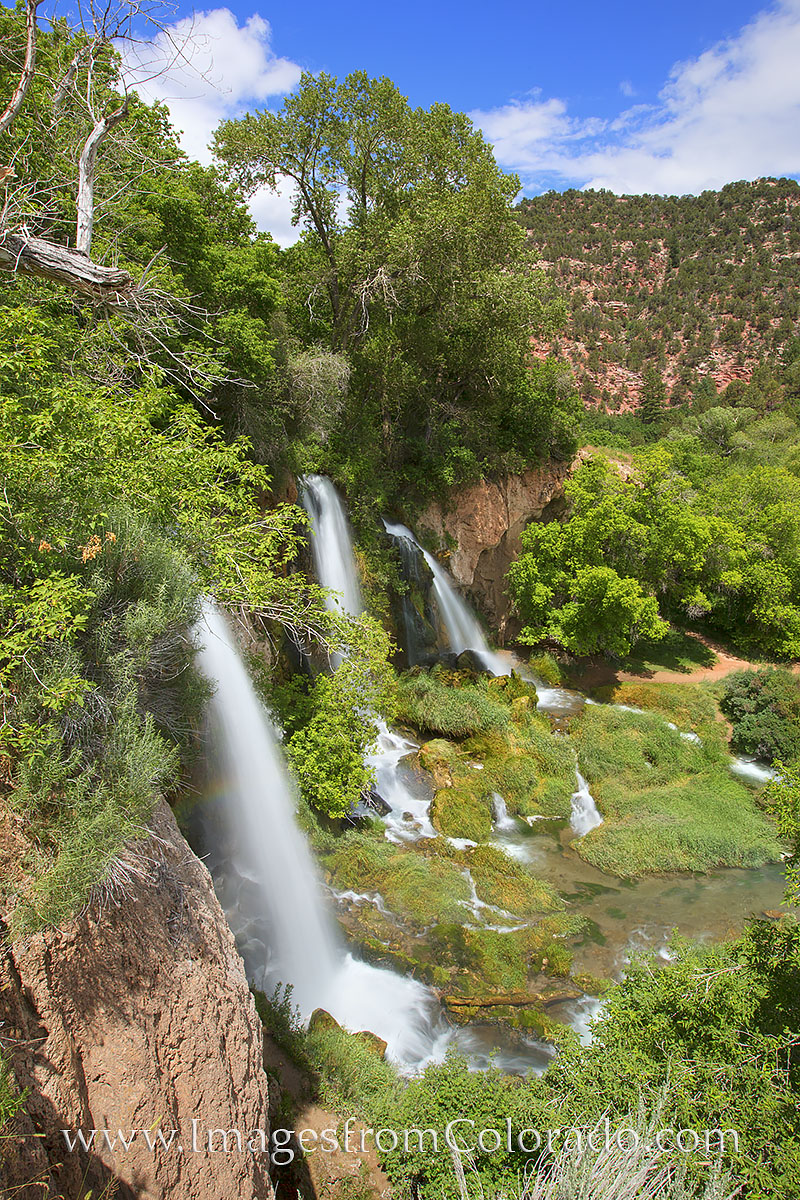 Rifle Falls is located in the aptly named Rifle Falls State Park. This beautiful area is west of Glenwood Springs near the town...