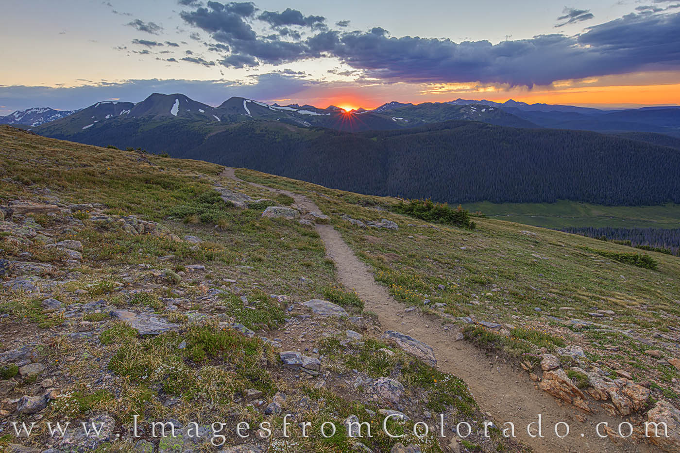 RMNP, sunset, rocky mountains, trail ridge road, summer, national parks, RMNP prints, colorado prints, photo