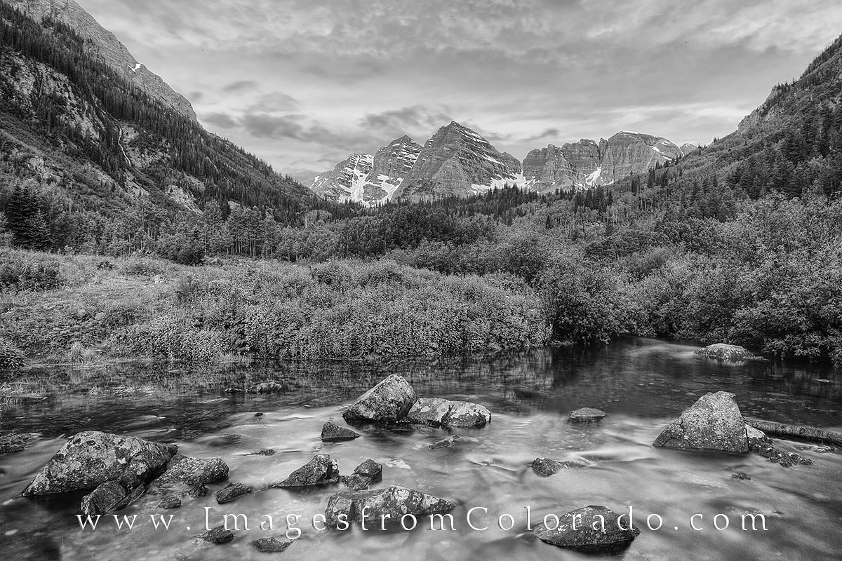 maroon bells, black and white, black and white prints, colorado black and white, maroon creek, aspen, maroon lake, colorado summer, photo