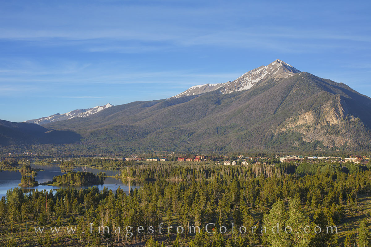 Lake Dillon, Frisco, Breckenridge, Ten Mile Peak, Ten Mile Range, Dillon, Frisco, colorado towns, colorado lakes, sunrise, panoramas, photo