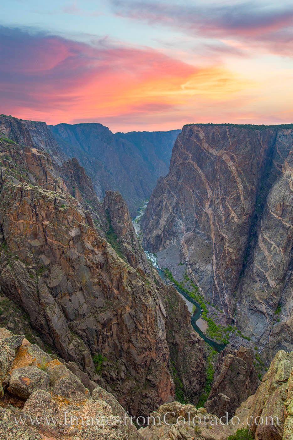 The rocks of gneiss and pegmatite that form the Painted Walls of the Black Canyon are nearly 2 billion years old. As the tallest...