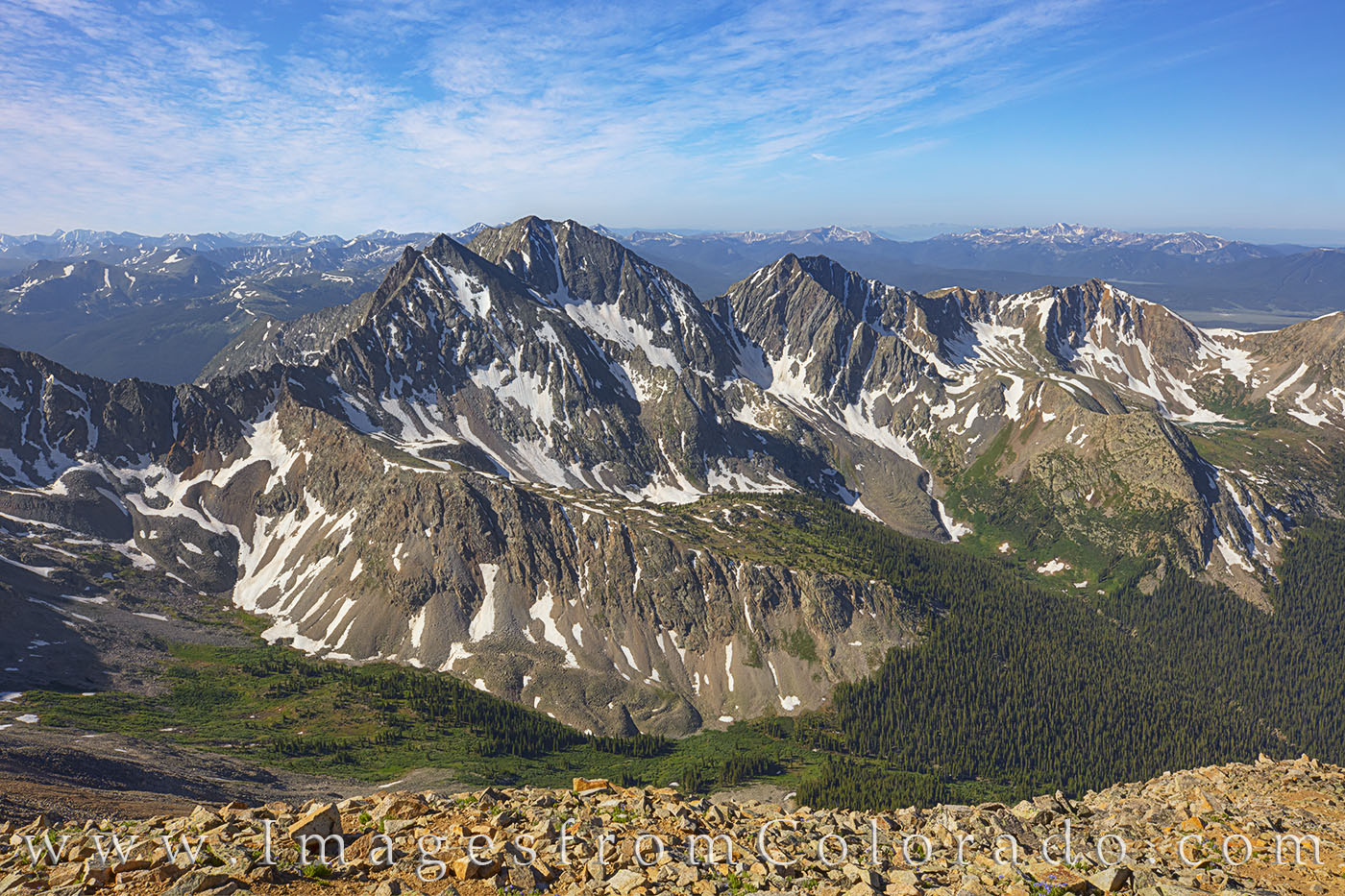 14ers, mount huron, three apostles, summer, july, rocky mountains, photo
