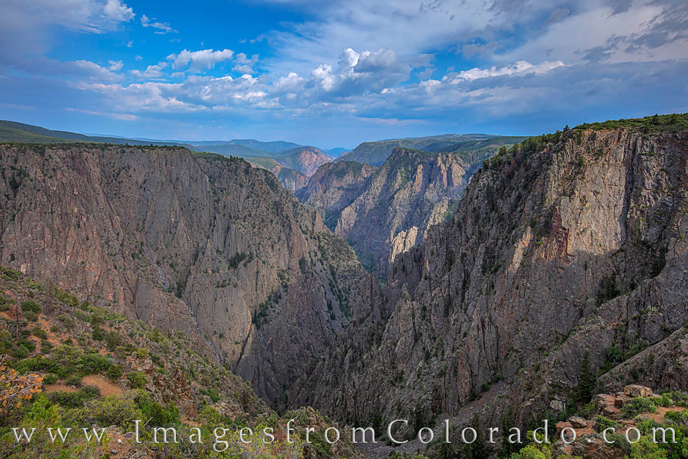 Tomichi Point is the first overlook you come to as you enter the east portal of Black Canyon N.P.  While the Gunnison River is...