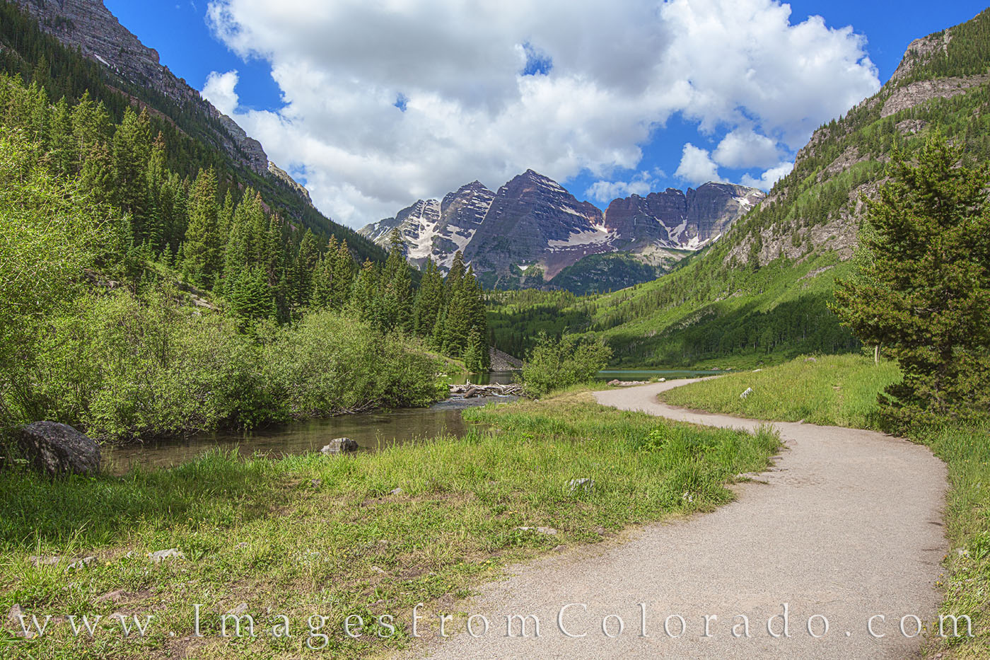 The drive from Aspen up to Maroon Lake in the Elk Range is stunning, but the final portion - the walkway to the lake - brings...