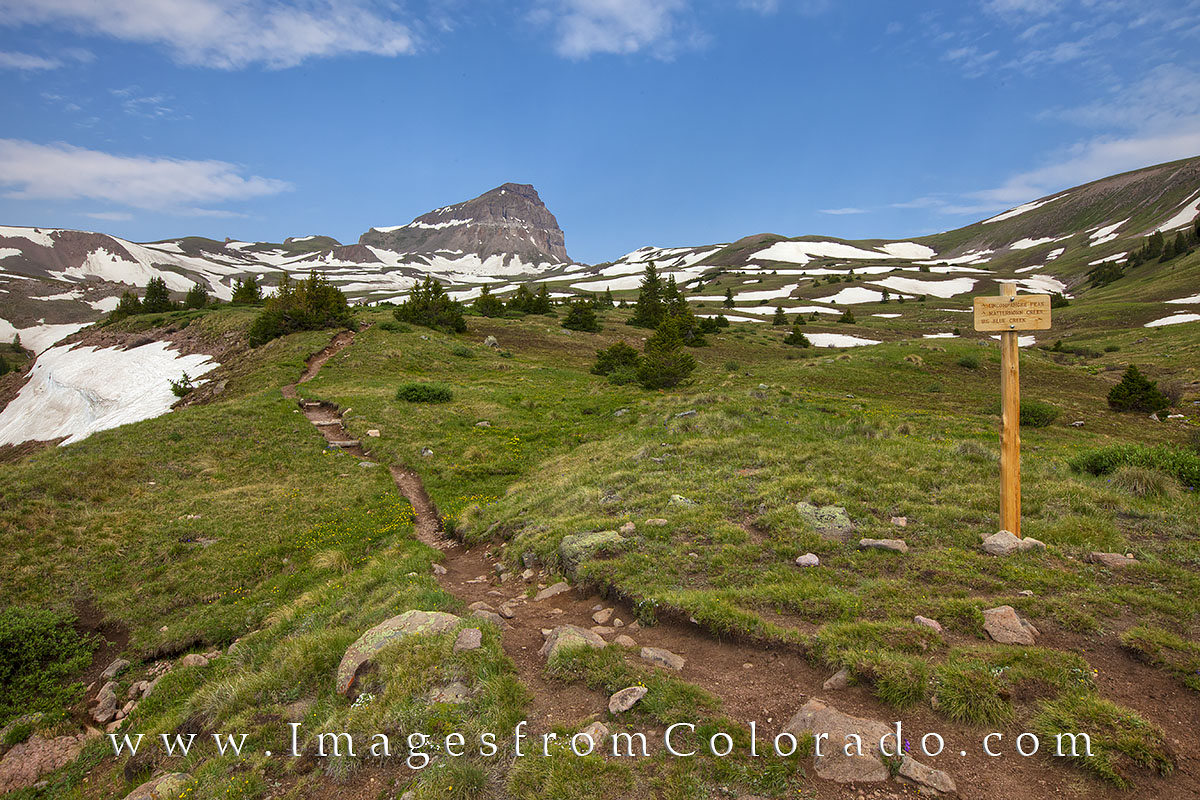 uncompahgre peak, uncompahgre trail, lake city, 14ers, 14ers images, hiking trails, colorado hiking, hikes, colorado trailheads, nellie creek, san juan mountains, san juans, photo
