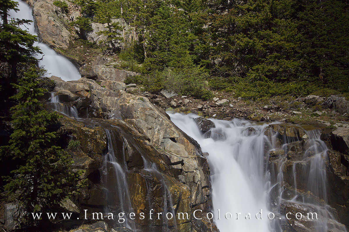 breckenridge, mohawk falls, breckenridge hikes, hiking colorado, rocky mountains, colorado waterfalls, upper mohawk falls, photo