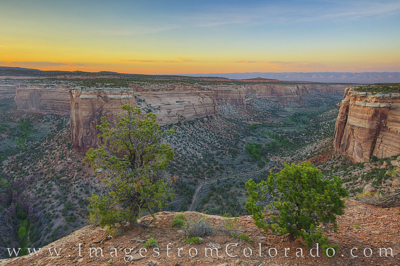 ute canyon, colorado national monument, ute canyon overlook, grand junction, monument canyon, rim rock road, summer, photo