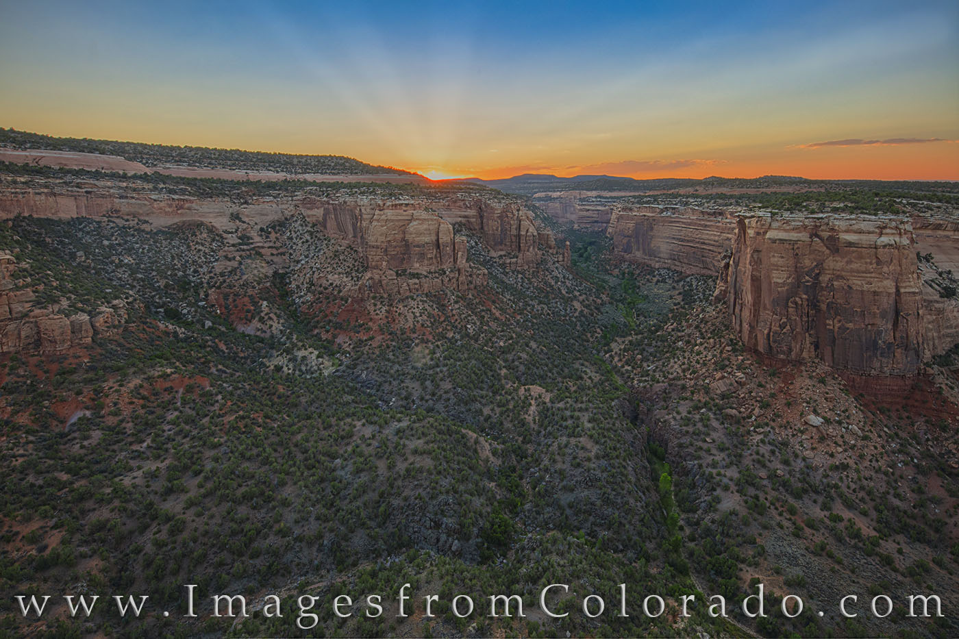 ute canyon, monument canyon, colorado national monument, confluence, sunset, evening, grand junction, canyon, photo
