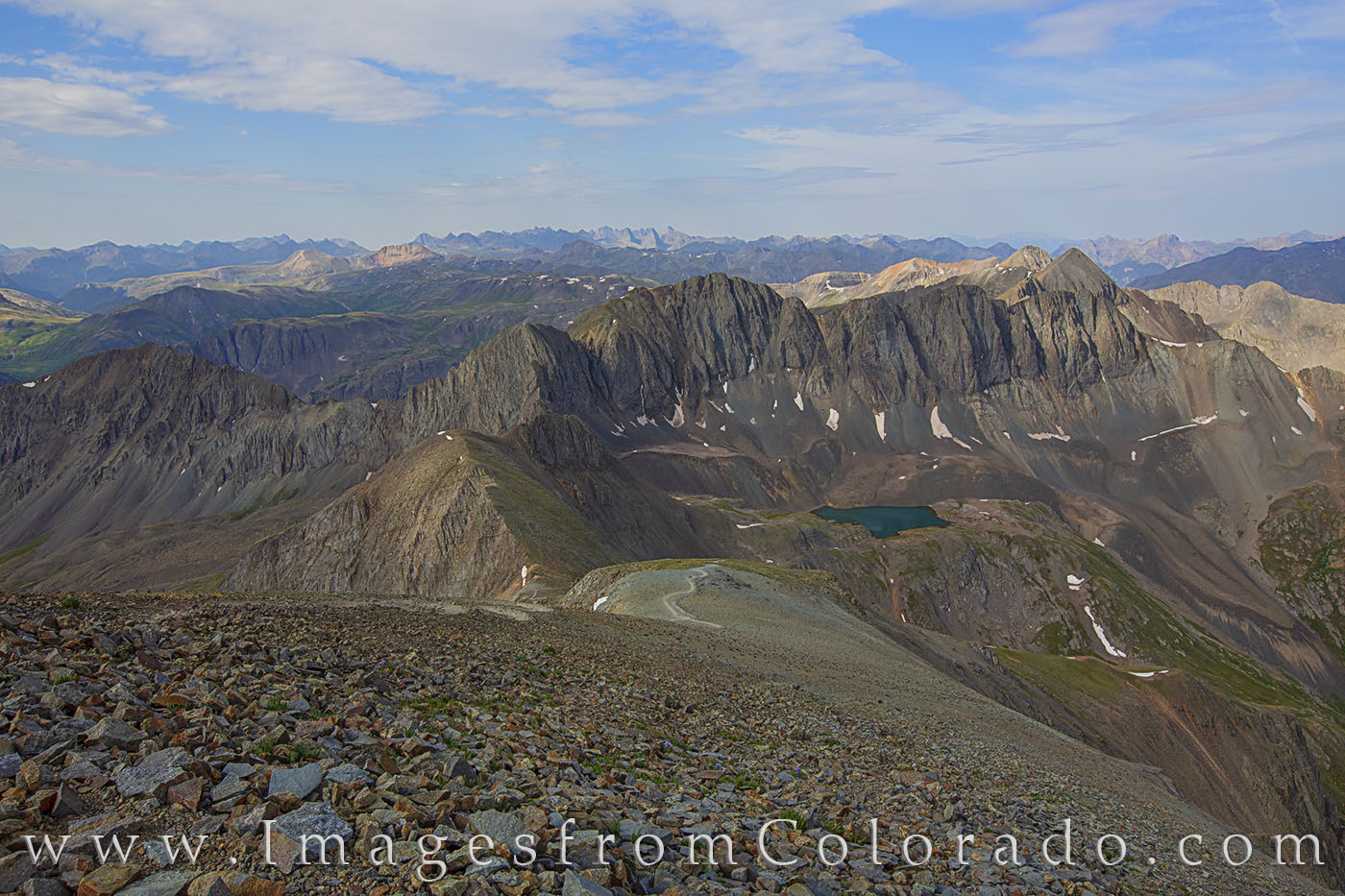 14ers, Handies Peak, American Basin, hiking, trail, lake city, rocky mountains, summer, photo