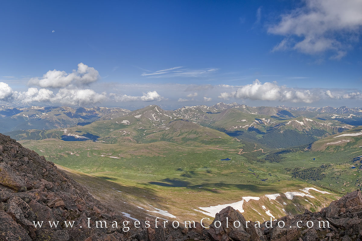 Mount Bierstadt rises 14,060' in the Front Range near Georgetown, Colorado. The panoramas from the top are incredible, the views...