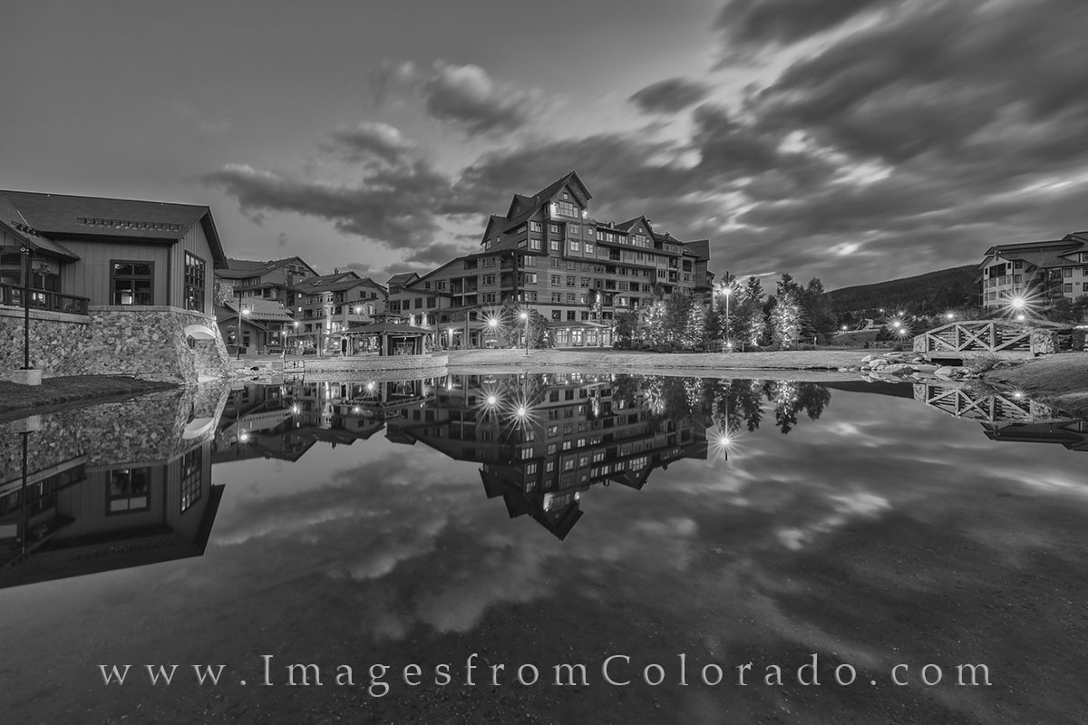 winter park base, black and white, colorado black and white, winter park ski, winter park images, grand county, winter park village, winter park village images, hideaway park, hideaway park images, he, photo