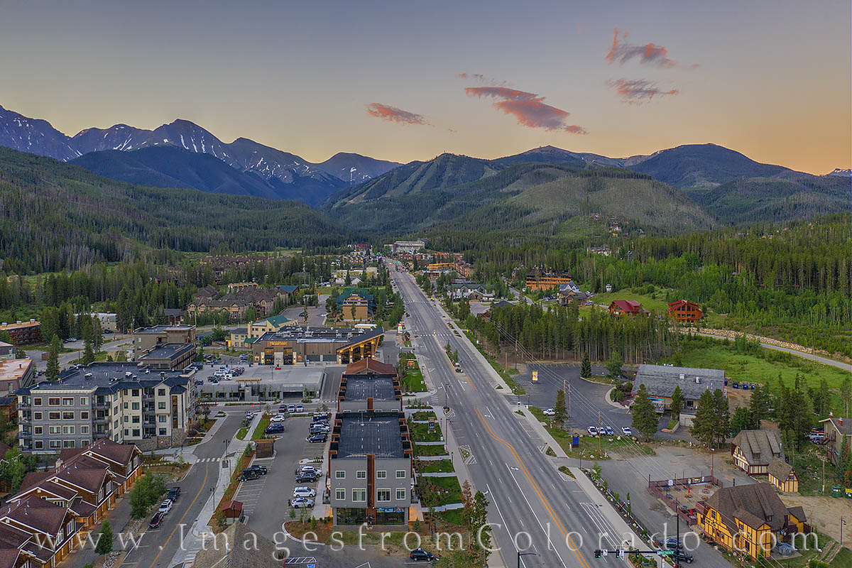 winter park, drone, aerial, ski runs, parry peak, 13ers, summer, morning, photo