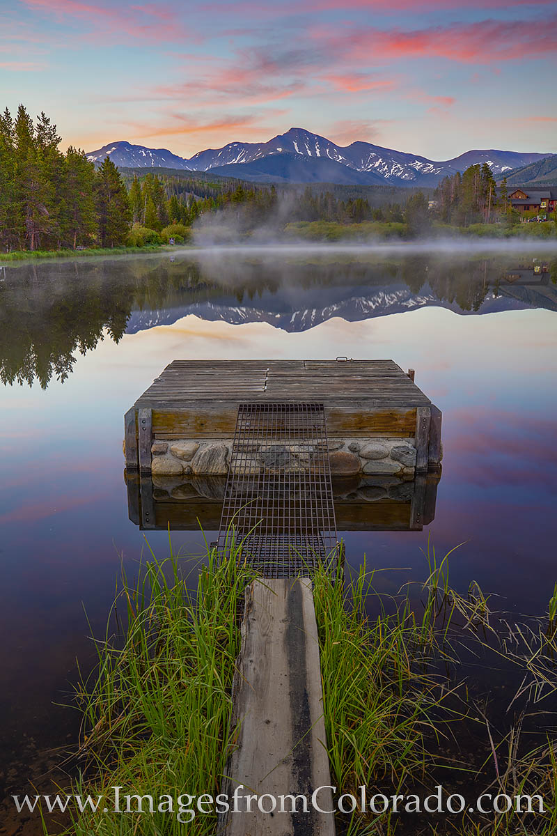 parry peak, winter park, sunrise, summer, pond, reflection, continental divide, photo