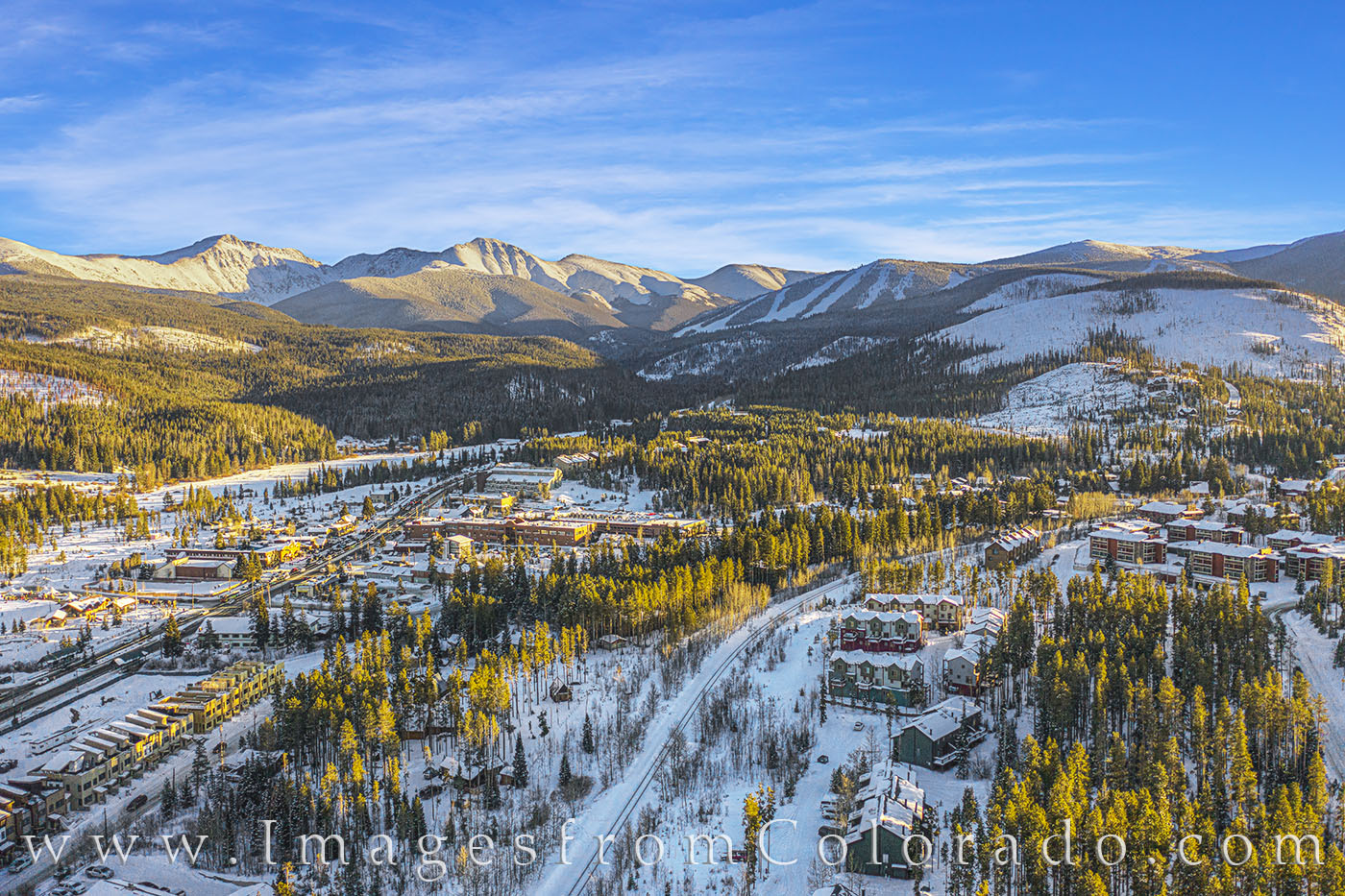 winter park, berthoud pass, ski base, snow, winter, aerial, drone, fraser valley, december, highway 40, photo